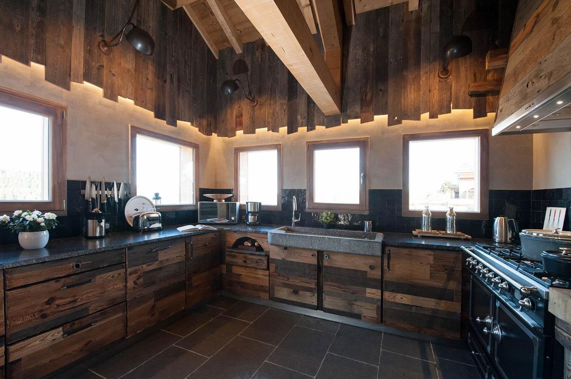 Une cuisine pour un chalet - Atelier La Petite Vosgienne