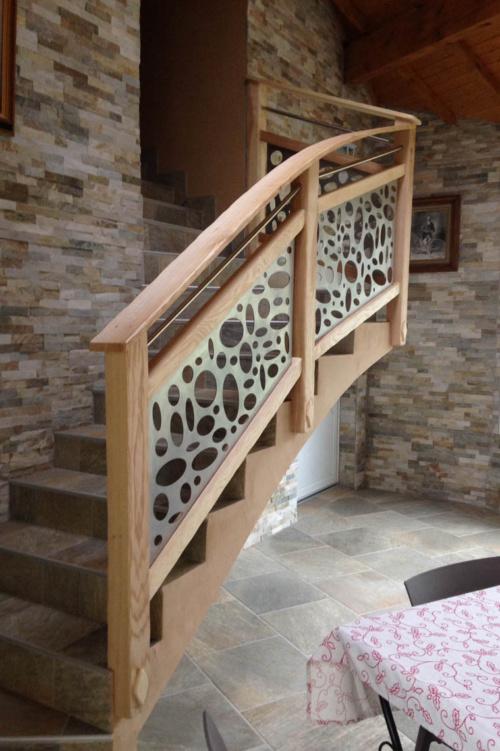 Aménagement intérieur-escalierbois-metal